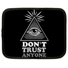 Illuminati Netbook Case (large) by Valentinaart