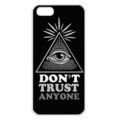 Illuminati Apple Iphone 5 Seamless Case (white) by Valentinaart