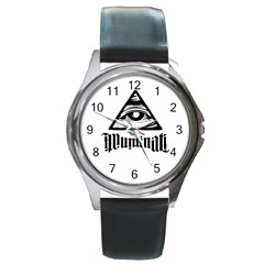 Illuminati Round Metal Watch by Valentinaart