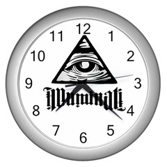 Illuminati Wall Clocks (silver)  by Valentinaart