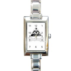 Illuminati Rectangle Italian Charm Watch by Valentinaart