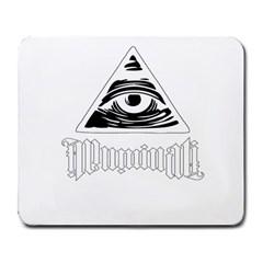 Illuminati Large Mousepads by Valentinaart
