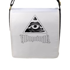 Illuminati Flap Messenger Bag (l)  by Valentinaart