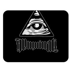 Illuminati Double Sided Flano Blanket (large)  by Valentinaart