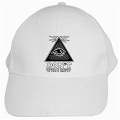 Illuminati White Cap by Valentinaart