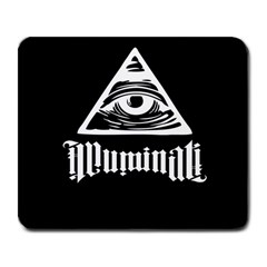 Illuminati Large Mousepads by Valentinaart
