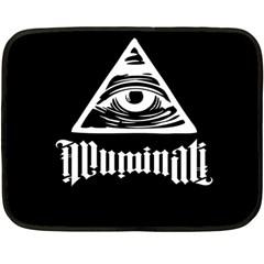 Illuminati Fleece Blanket (mini) by Valentinaart