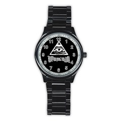 Illuminati Stainless Steel Round Watch by Valentinaart