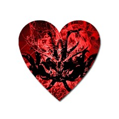 Scary Background Heart Magnet by dflcprints