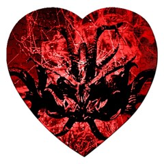 Scary Background Jigsaw Puzzle (heart) by dflcprints