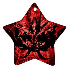 Scary Background Star Ornament (two Sides) by dflcprints