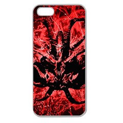 Scary Background Apple Seamless Iphone 5 Case (clear) by dflcprints