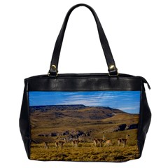 Group Of Vicunas At Patagonian Landscape, Argentina Office Handbags by dflcprints