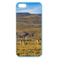 Group Of Vicunas At Patagonian Landscape, Argentina Apple Seamless Iphone 5 Case (color) by dflcprints