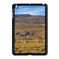 Group Of Vicunas At Patagonian Landscape, Argentina Apple Ipad Mini Case (black) by dflcprints