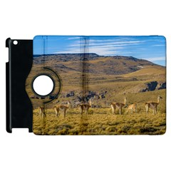 Group Of Vicunas At Patagonian Landscape, Argentina Apple Ipad 3/4 Flip 360 Case by dflcprints