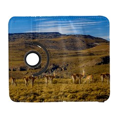 Group Of Vicunas At Patagonian Landscape, Argentina Galaxy S3 (flip/folio) by dflcprints