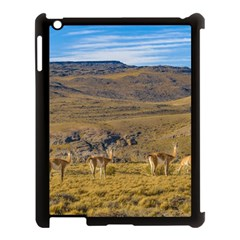 Group Of Vicunas At Patagonian Landscape, Argentina Apple Ipad 3/4 Case (black) by dflcprints