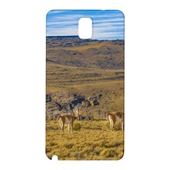 Group Of Vicunas At Patagonian Landscape, Argentina Samsung Galaxy Note 3 N9005 Hardshell Back Case by dflcprints