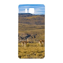 Group Of Vicunas At Patagonian Landscape, Argentina Samsung Galaxy Alpha Hardshell Back Case by dflcprints