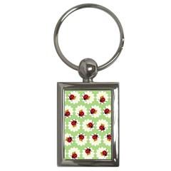 Ladybugs Pattern Key Chains (Rectangle)