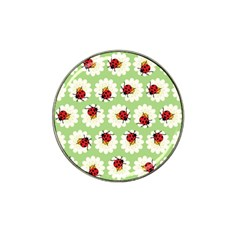 Ladybugs Pattern Hat Clip Ball Marker (10 Pack) by linceazul