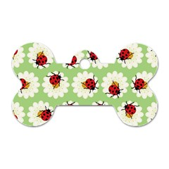 Ladybugs Pattern Dog Tag Bone (two Sides) by linceazul