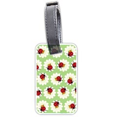 Ladybugs Pattern Luggage Tags (one Side)  by linceazul