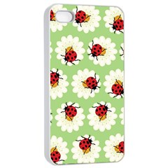 Ladybugs Pattern Apple Iphone 4/4s Seamless Case (white) by linceazul