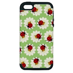Ladybugs Pattern Apple Iphone 5 Hardshell Case (pc+silicone) by linceazul
