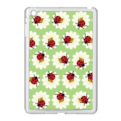 Ladybugs Pattern Apple Ipad Mini Case (white) by linceazul