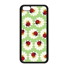 Ladybugs Pattern Apple Iphone 5c Seamless Case (black) by linceazul