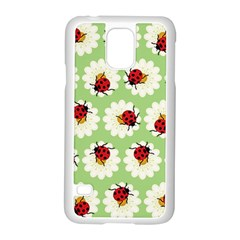 Ladybugs Pattern Samsung Galaxy S5 Case (white) by linceazul