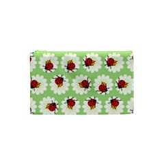 Ladybugs Pattern Cosmetic Bag (xs) by linceazul