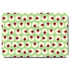 Ladybugs Pattern Large Doormat  by linceazul