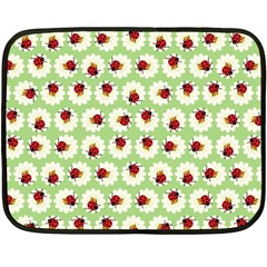 Ladybugs Pattern Fleece Blanket (mini) by linceazul