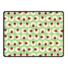 Ladybugs Pattern Double Sided Fleece Blanket (small)  by linceazul