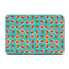 Semicircles And Arcs Pattern Small Doormat  by linceazul