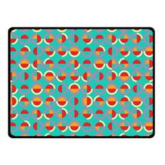 Semicircles And Arcs Pattern Double Sided Fleece Blanket (small)  by linceazul