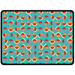 Semicircles And Arcs Pattern Double Sided Fleece Blanket (large)  by linceazul