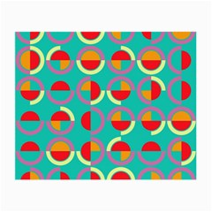 Semicircles And Arcs Pattern Small Glasses Cloth by linceazul