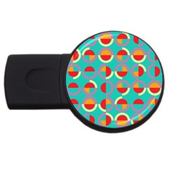 Semicircles And Arcs Pattern Usb Flash Drive Round (4 Gb) by linceazul