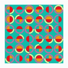 Semicircles And Arcs Pattern Medium Glasses Cloth (2 Side) by linceazul