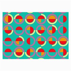 Semicircles And Arcs Pattern Large Glasses Cloth (2 Side) by linceazul