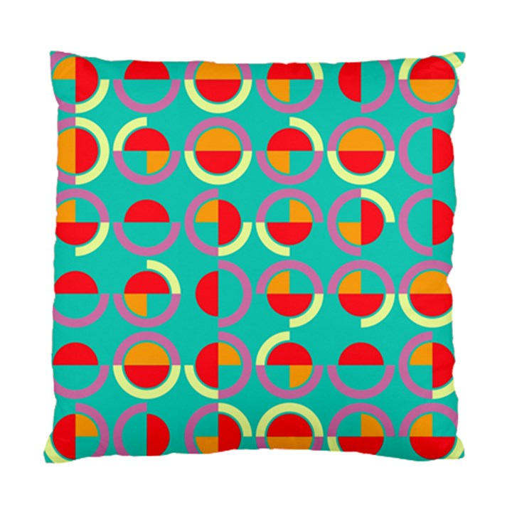 Semicircles And Arcs Pattern Standard Cushion Case (One Side)