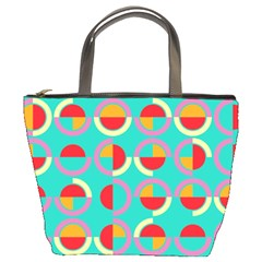 Semicircles And Arcs Pattern Bucket Bags by linceazul