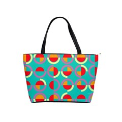 Semicircles And Arcs Pattern Shoulder Handbags by linceazul