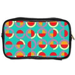 Semicircles And Arcs Pattern Toiletries Bags 2 Side by linceazul