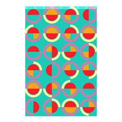 Semicircles And Arcs Pattern Shower Curtain 48  X 72  (small)  by linceazul