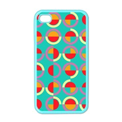 Semicircles And Arcs Pattern Apple Iphone 4 Case (color) by linceazul